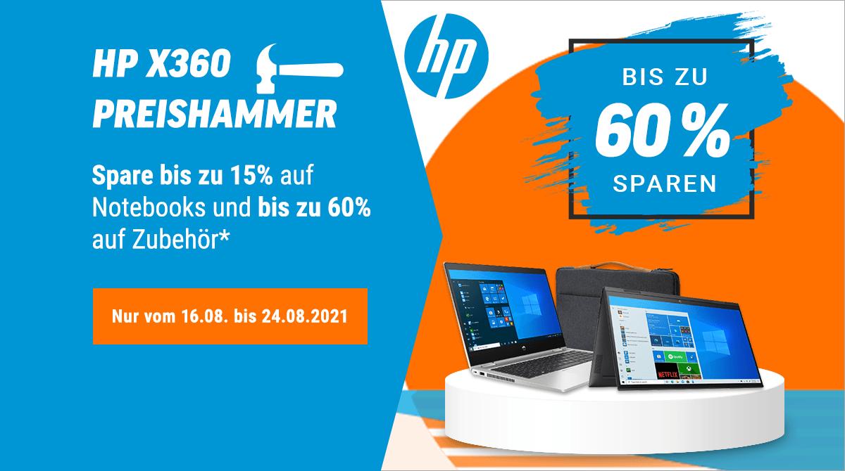 HP x360 Preishammer – Bis zu 60% auf Notebooks & Zubehör sparen