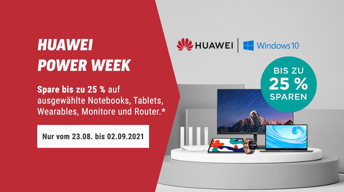 Spare bis zu 25% bei der Huawei Power Week