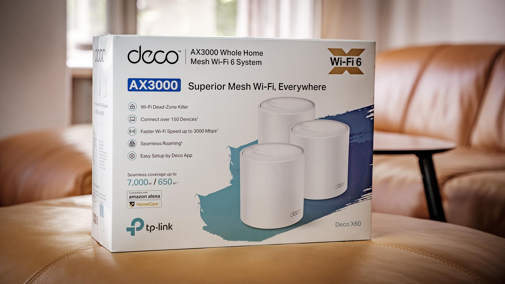 TP-Link Deco X60 WiFi Mesh Box Verpackung