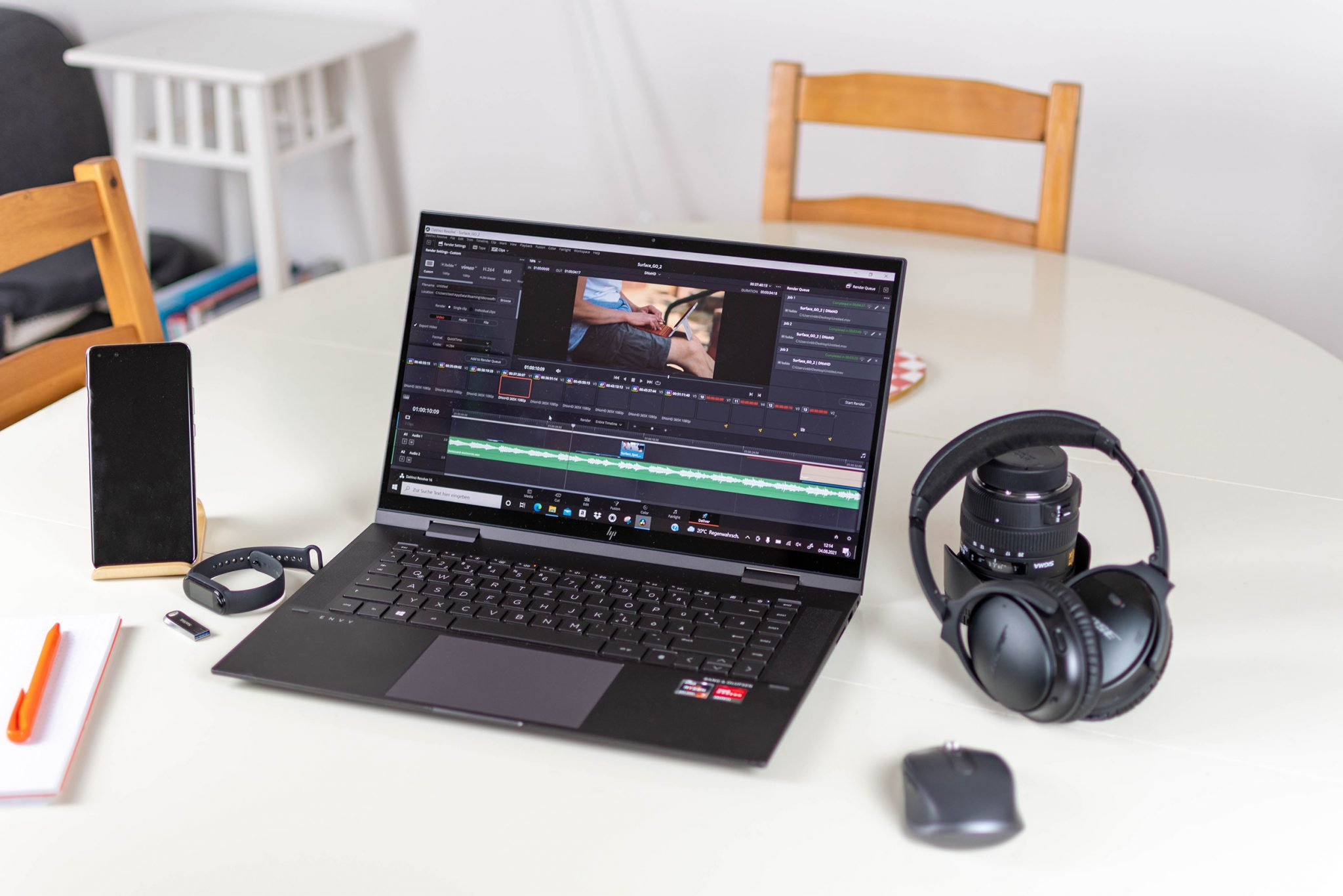 hp envy x360 15-0178ng convertible with amd ryzen 7 and large ssd in the test