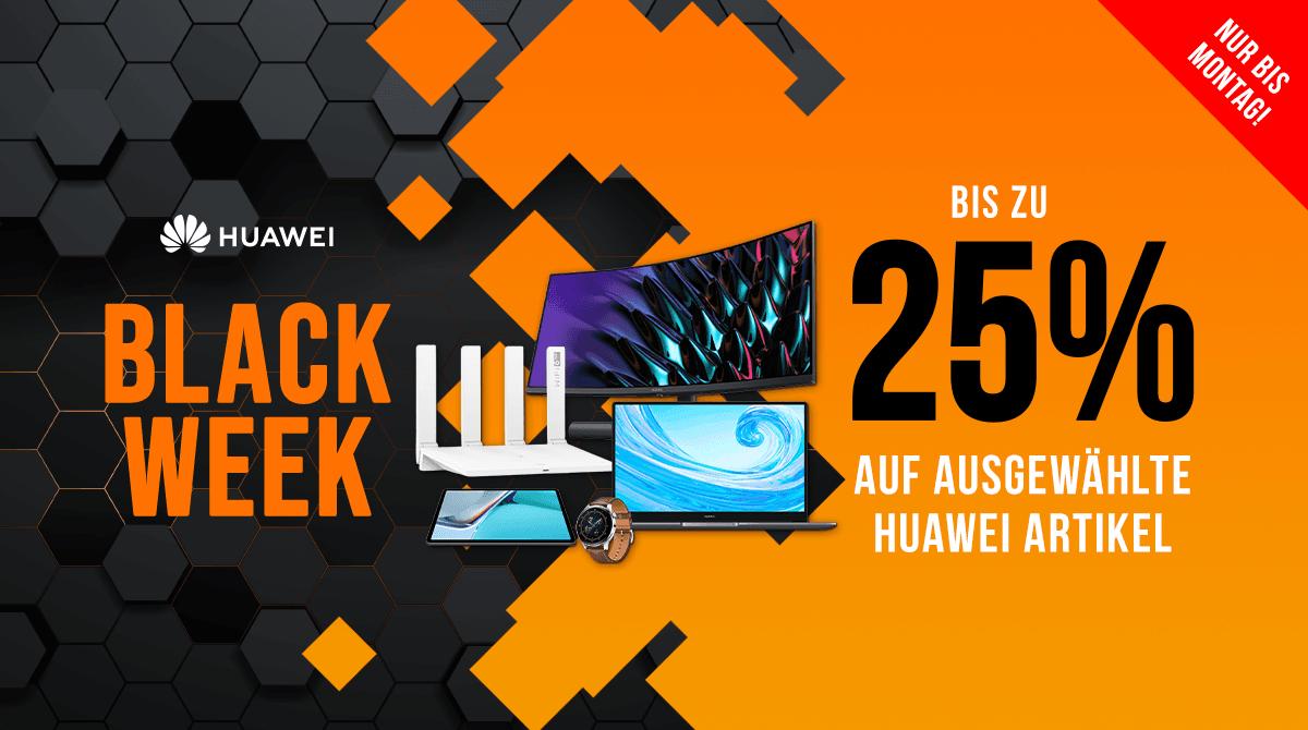 Spare bei der Black Week bis zu 25% auf ausgewählte Huawei-Produkte