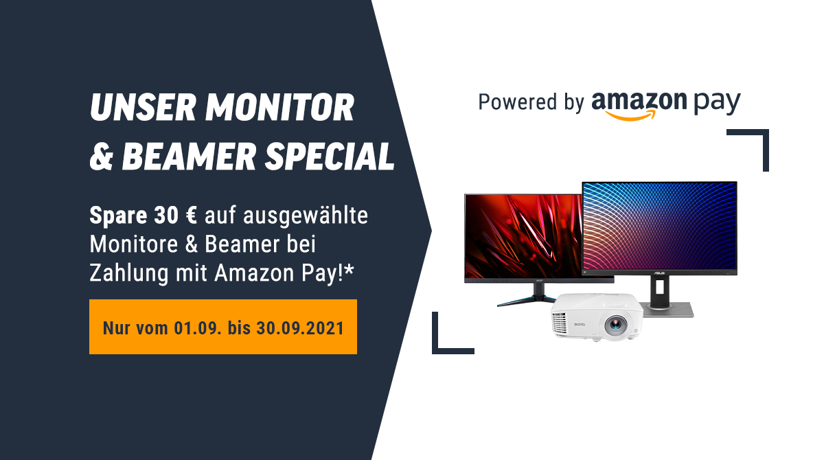 Spare 30 Euro beim Monitor & Beamer Special powered by Amazon Pay