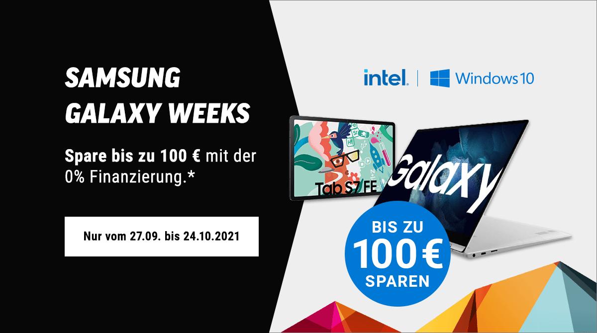 Spare bis zu 100 Euro bei den Samsung Galaxy Weeks