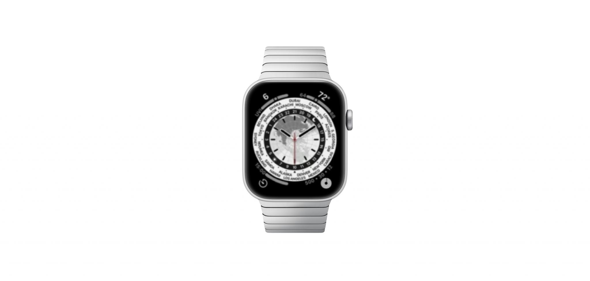 Mockup des Atlas Watchface der Apple Watch Series 7