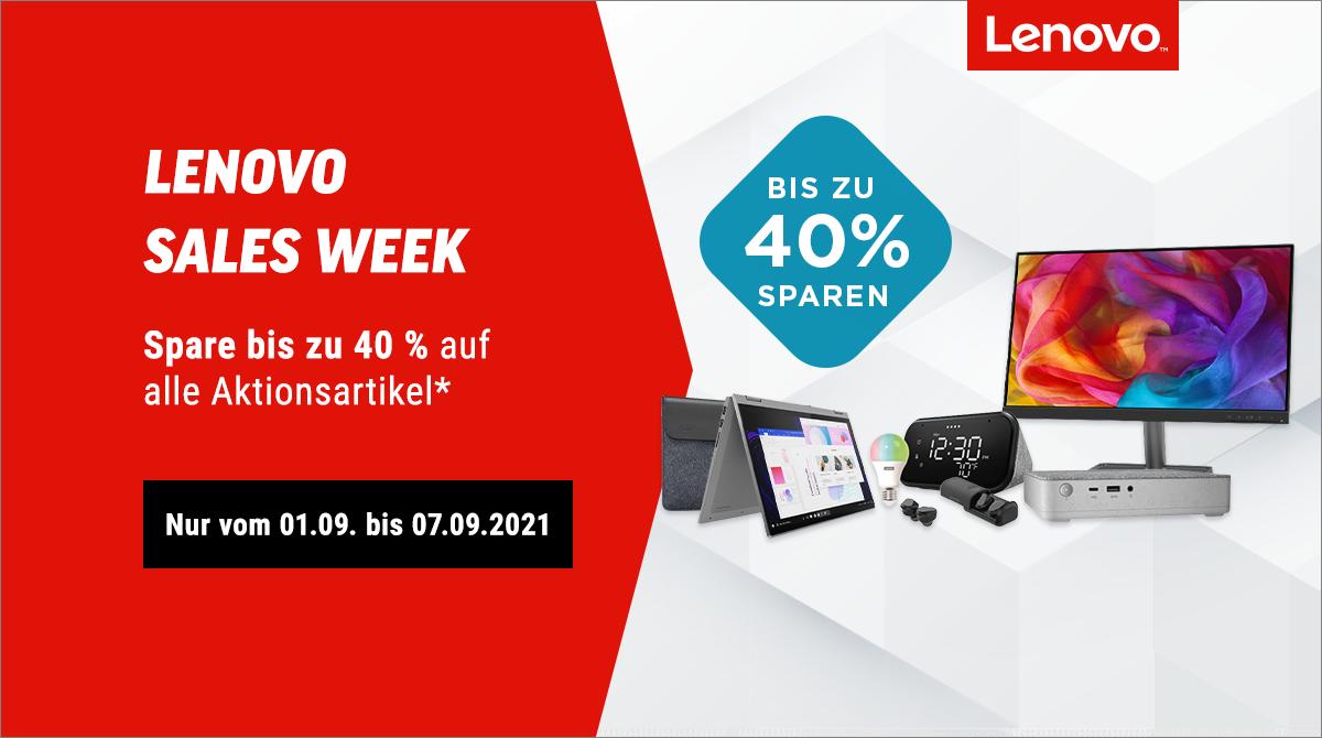 Spare bis zu 40% bei unserer Lenovo Sales Week