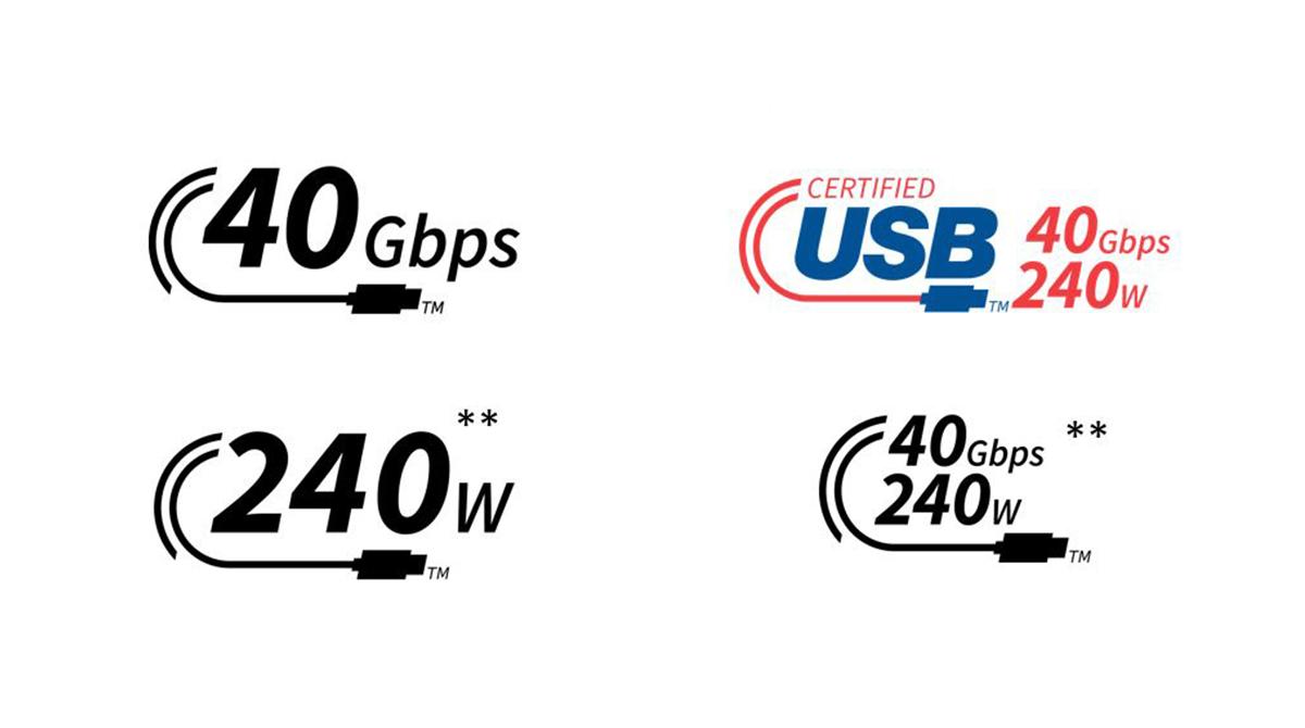 USB-C-Kabel: neue, verwirrende Logos für 240 W-Laden