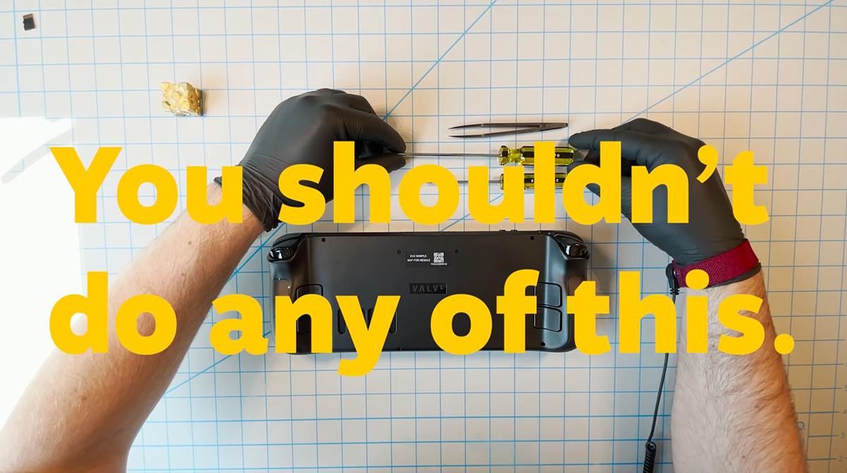 Valve Steam Deck im Teardown: Lieber nicht Zuhause ausprobieren